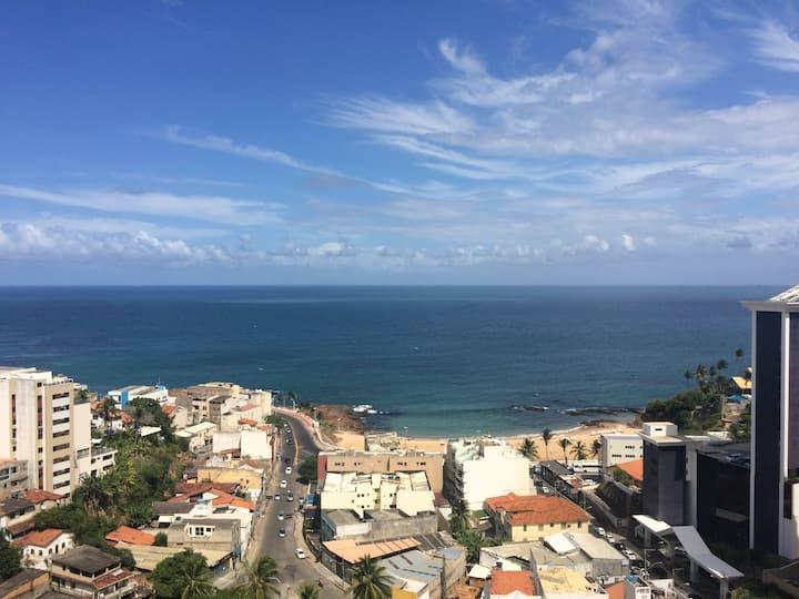 Apto com vista para o mar na Bahia
