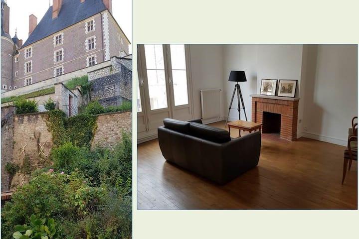Charmant appartement et jardin au pied du château
