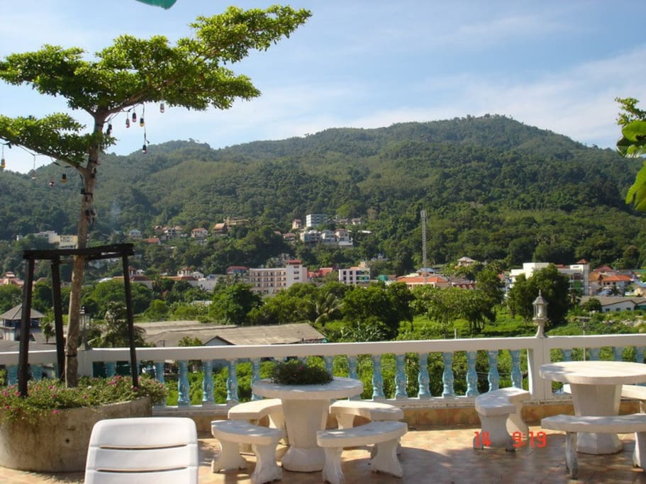 Rooftop seating area patong