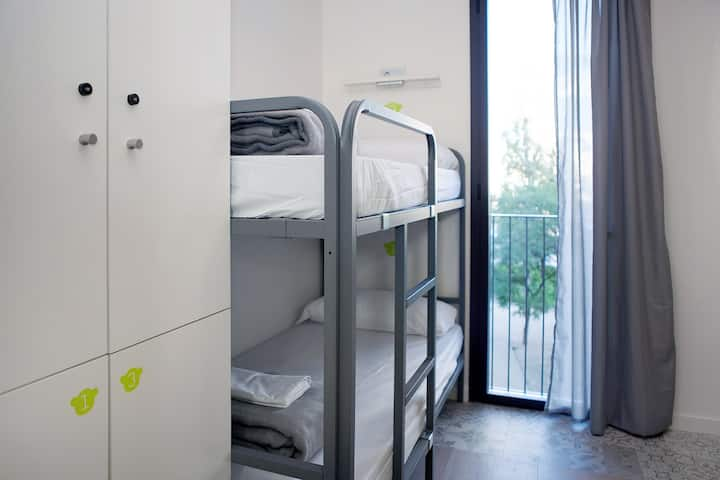 A Bed in a 4-Bed Female-only Dormitory