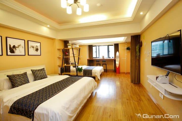 新天地优选精品双床一室公寓近钟鼓楼回民街火车站机场大巴停靠点 - Xi'an