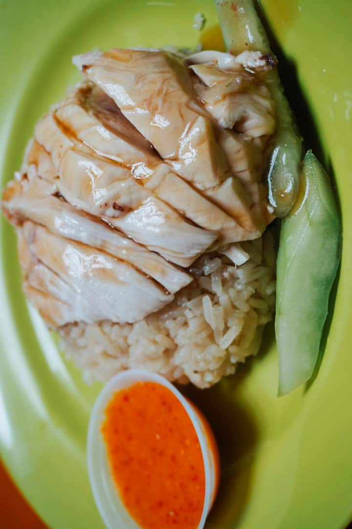 Famous Chicken Rice for dinner.
