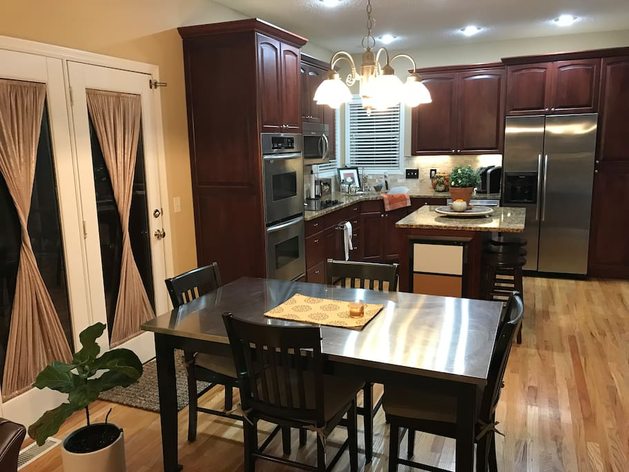 Large dine in kitchen filled with all you could need.