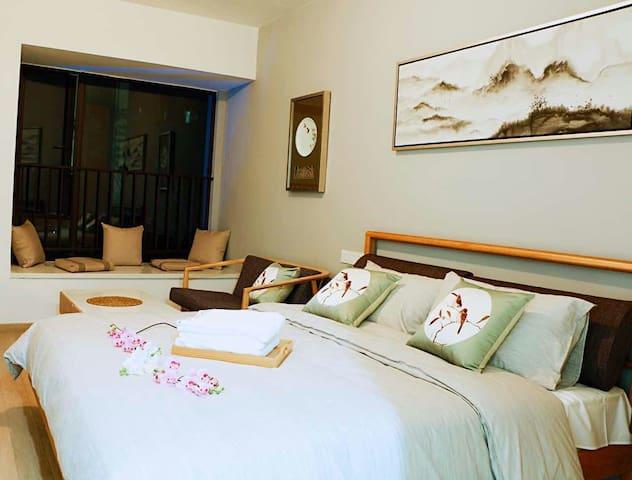 汉普敦度假公寓·时代花城 新中式复古风格江景大床房 - Qingyuan - Apartamento