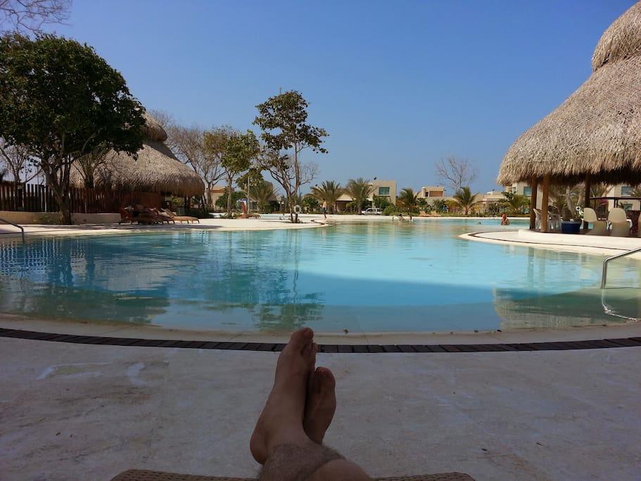 Kioskos en la zona de piscinas