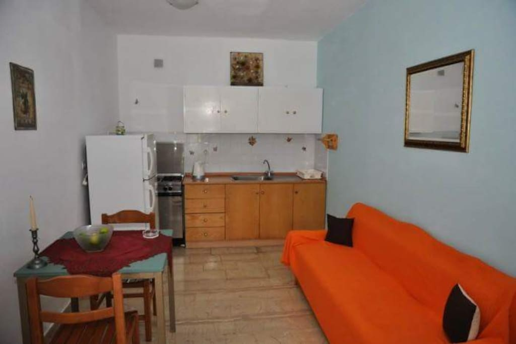 FULLY EQUIPEDED KITCHEN/ DINNING WITH LARGE FRIDGE, ELECTRICAL OVEN