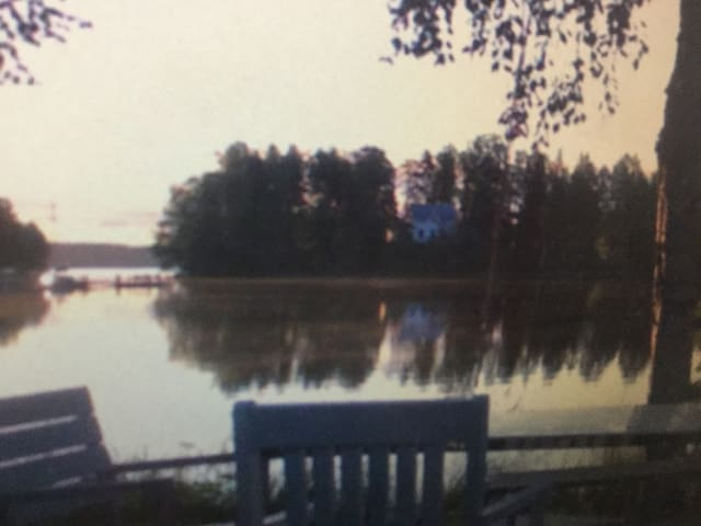 The house is on the lake.