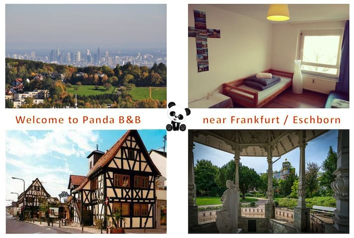 Cosy Panda B&B near Frankfurt/Eschborn