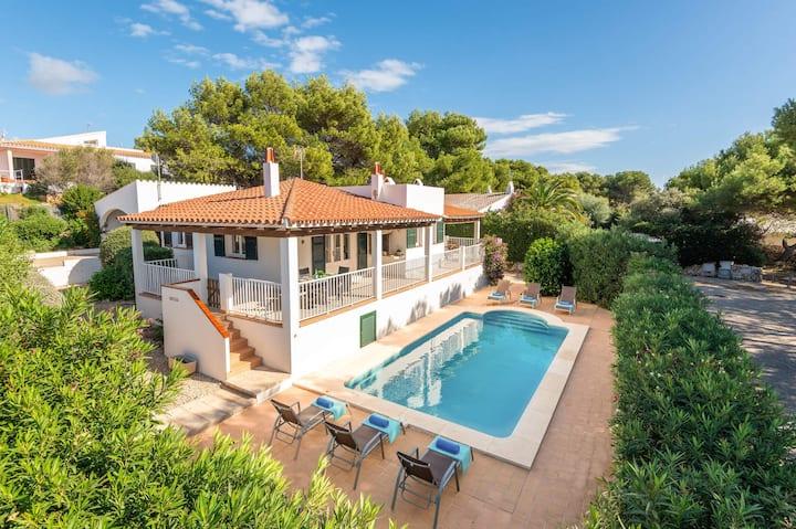 Binilisa. Gran Villa, piscina privada 10 min playa