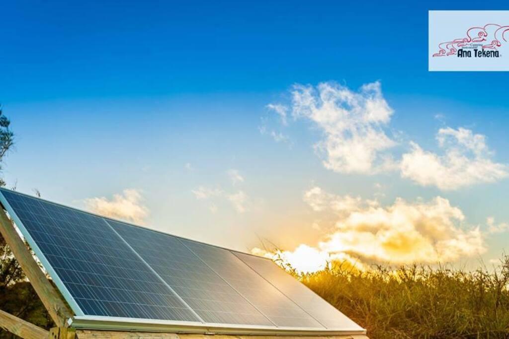 Contamos con paneles solares, huerta orgánica, agua de lluvia
