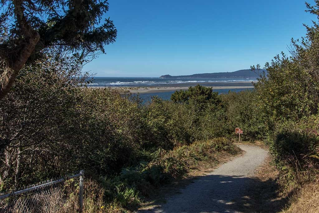 Just one block away is this spectacular coastal hiking trail.