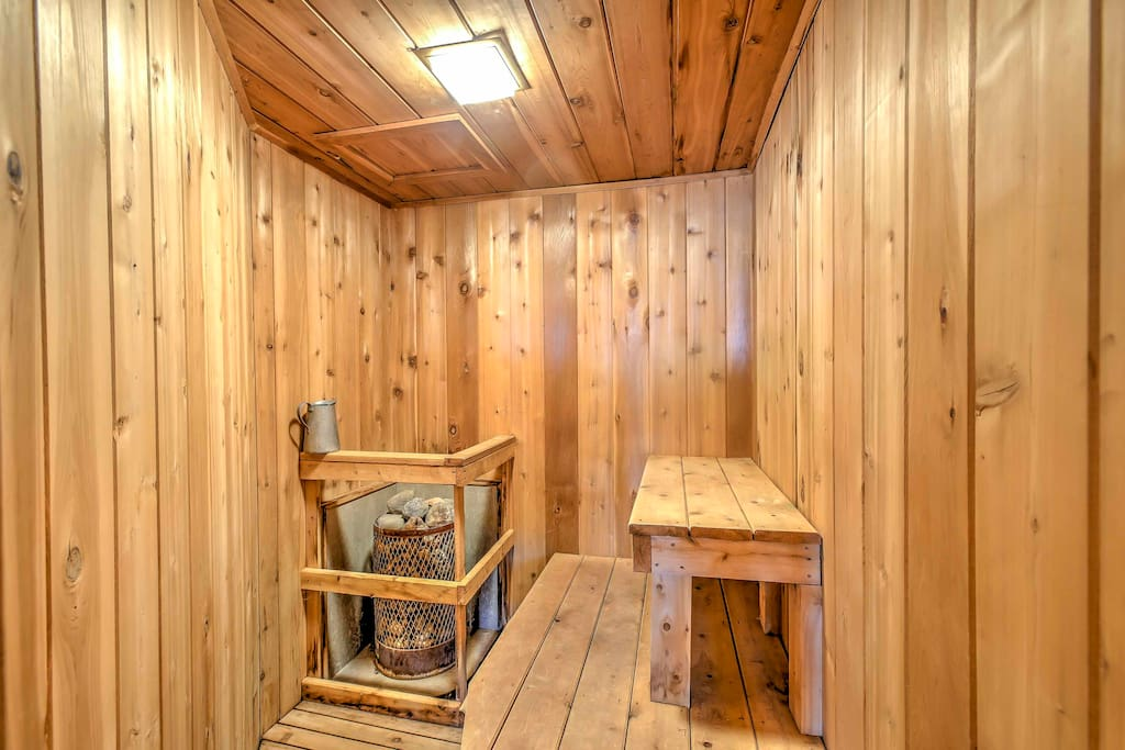 Relax and detox in your own personal sauna!