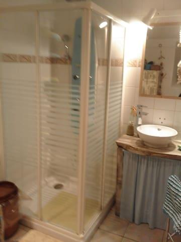 Salle de bain individuelle , douche, wc