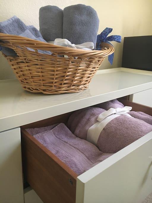 Clean towels!
