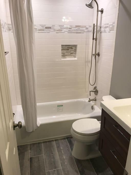 gorgeous new bathroom too!