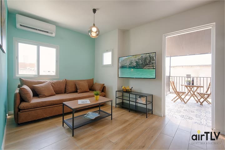 ❤️AirTLV HaTikva Market Apartment with Balcony❤️