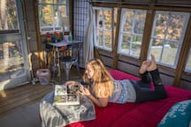 A guest also snapped this awesome shot. This is what your afternoon could look like as you relax in the treehouse. What a great way to spend a day in Richmond!