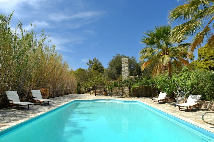 Beautiful  Villa sleeping 9 in Poseidonia, Syros