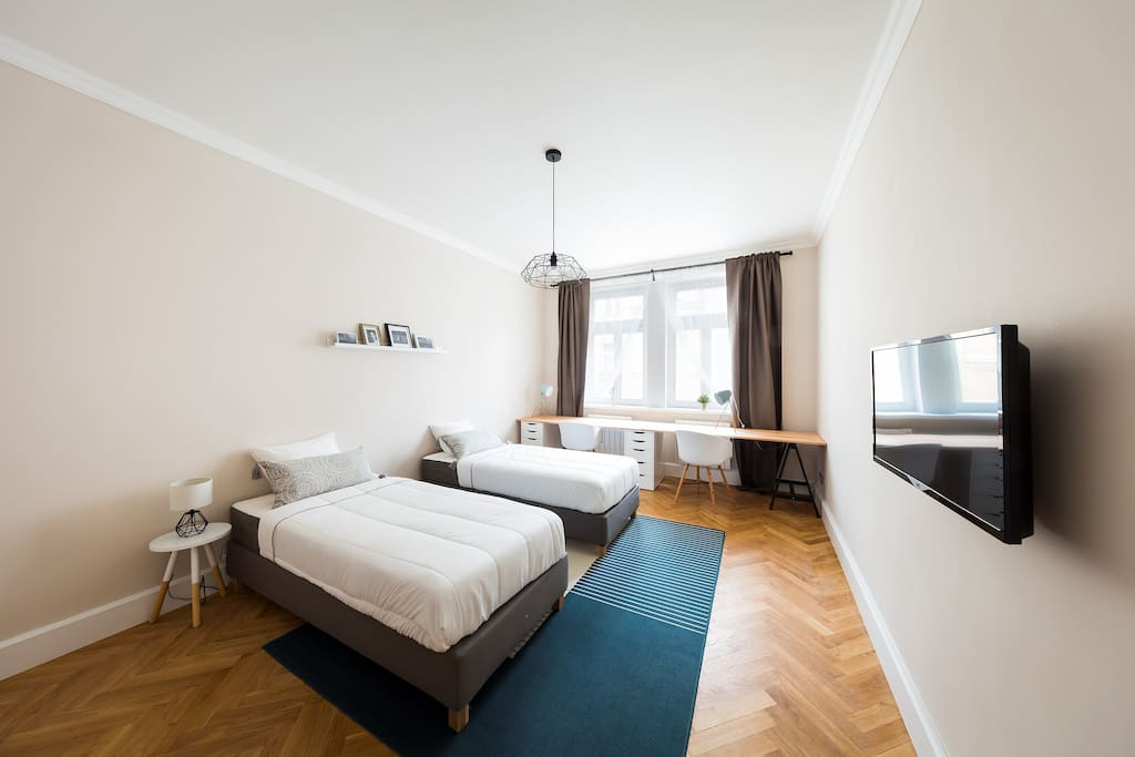 Bedroom B - can be used and two single beds on demand