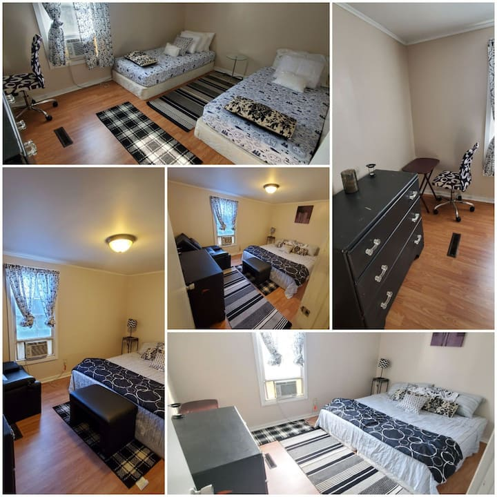 Black and White Convertible Double Bed or King