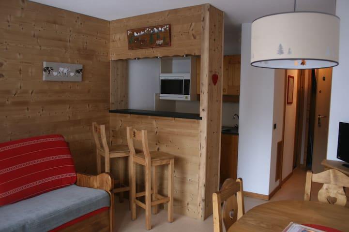 Appart 4p plein sud ski aux pieds - Les Avanchers-Valmorel - Apartment
