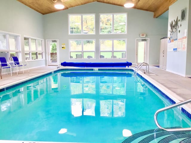 Clean, private, with an heated indoor pool!