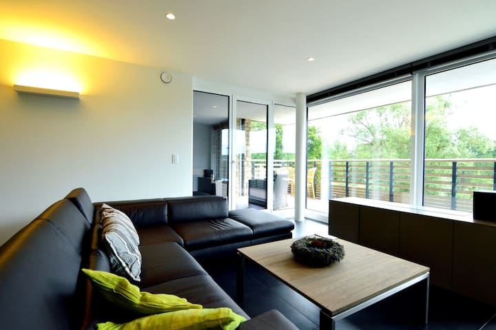 Elegant Apartment in Robertville with Balcony, Roofed Terrace