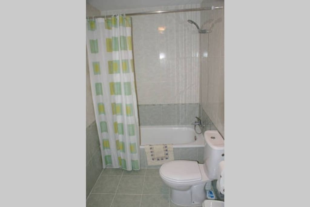 Bathroom and shower.