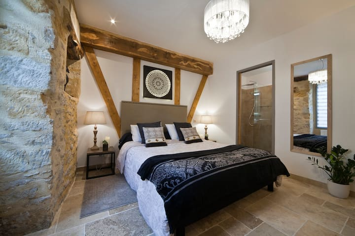 Lovely cocoon with ensuite, wi-fi, - Sarlat-la-Canéda - Flat