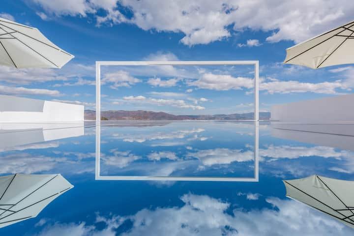 现代大床1-3层随机安排(6)【拍照基地】【天空之镜】【大滑梯】【天梯】大理古城边