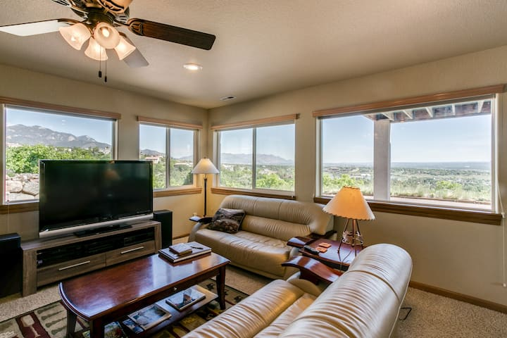Mountaintop apartment overlooking  city