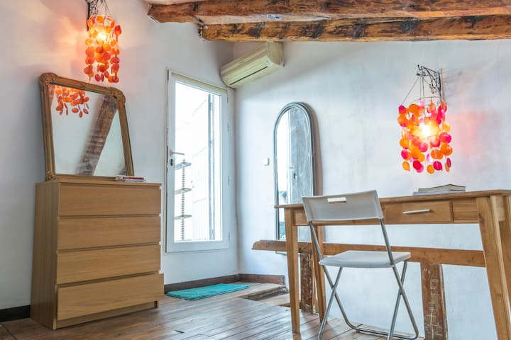 Cozy boho chic duplex in the center of Madrid