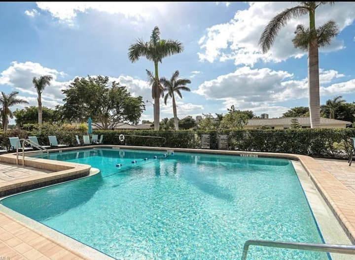 Naples beach living at its finest walking distance
