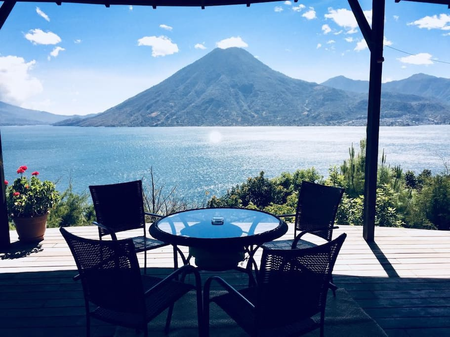 Lunch on the deck with a volcano view?