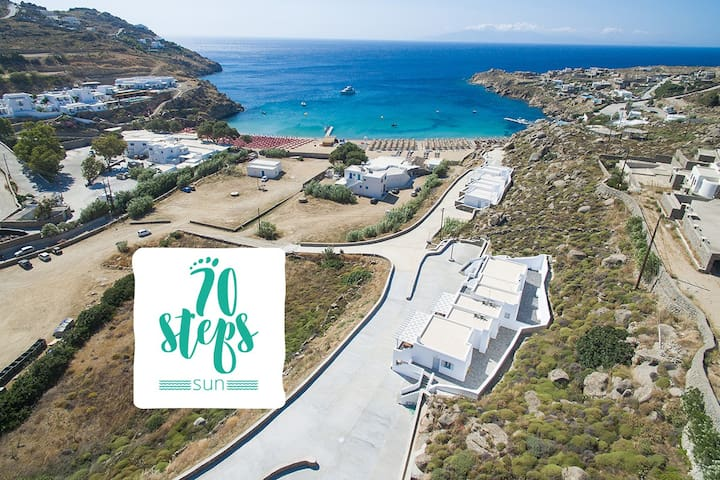 "70 Steps ""Sun"" | Mykonos, Super Paradise"