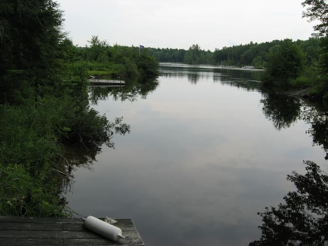 view from dock to main lake
