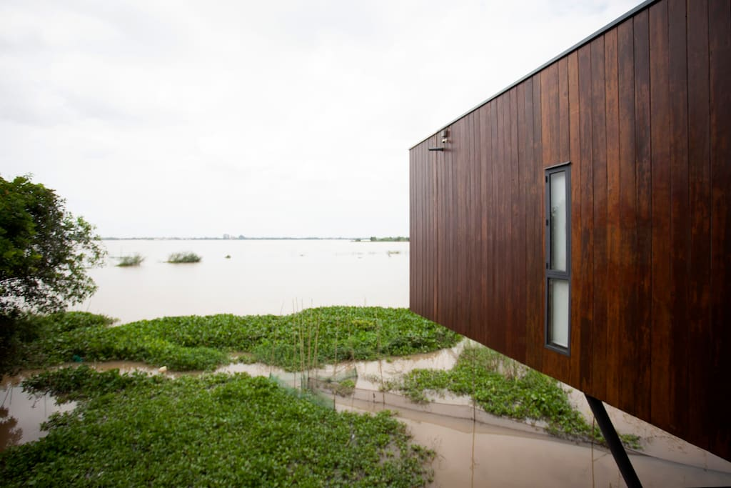 Modern Home Made of 100% Recycled Wood