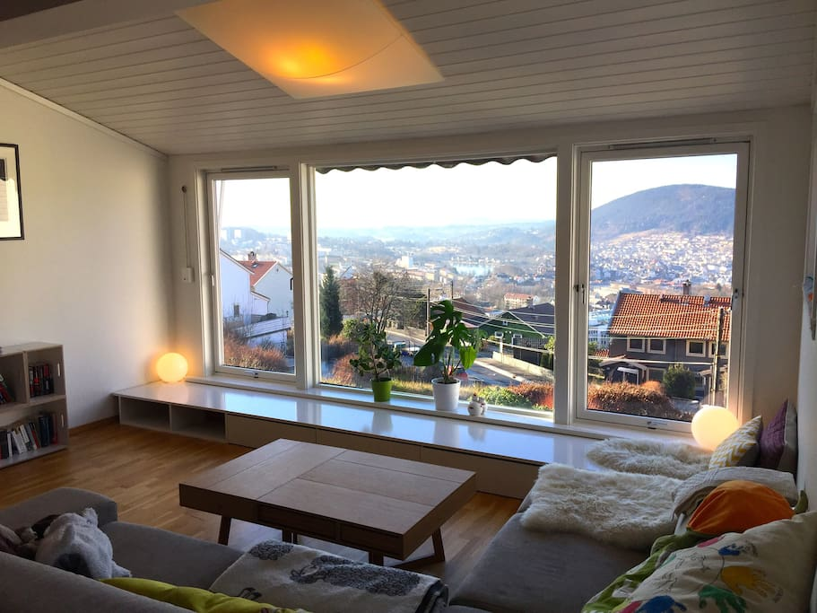 Living room in 1. floor with a view
