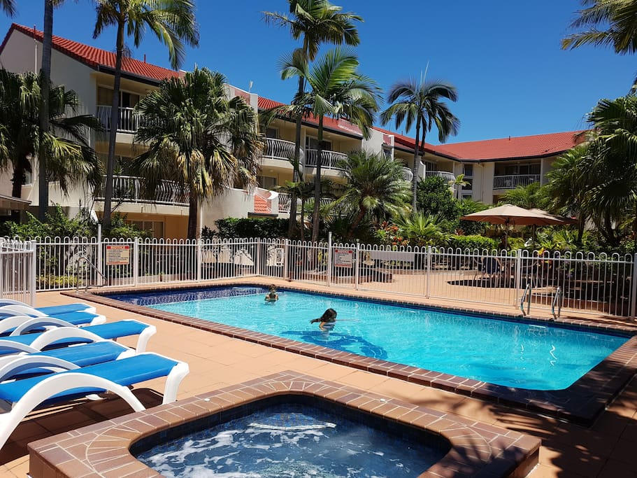 Overview of Apartments with Pool and hot tub.