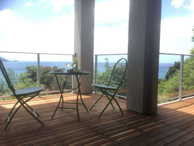 Endless Ocean Views from Fantail B&B on Paku Hill