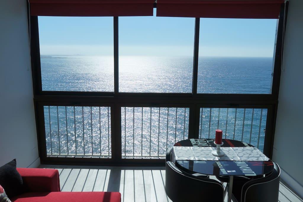 Living room amazing sea view