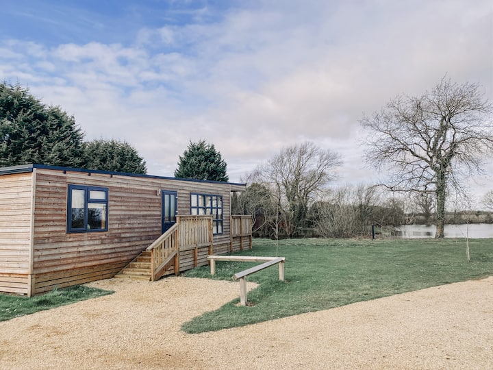 Woodlakes Park, Larch Log Cabin,  Norfolk