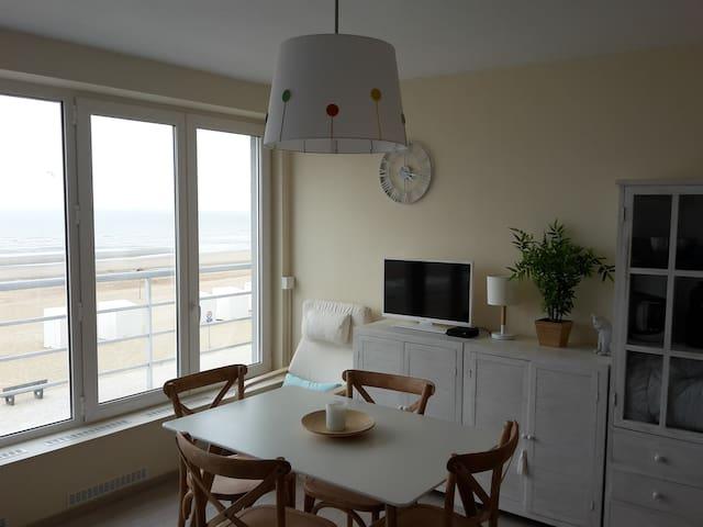 Appart 1 chambre (4 p.) vue sur mer - St-Idesbald - Koksijde - Appartement