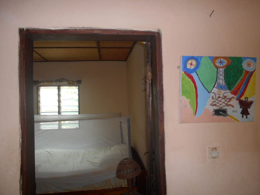 L'entrée de la chambre d'hôtes.