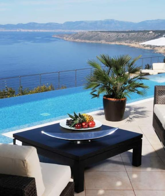 Terrace with the view to Palma bay