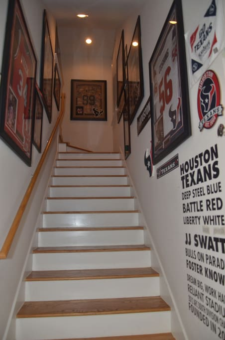 Welcome to Chateau Le Texas with a celebration of Houston Texans, Astros and University of Houston memorabilia.