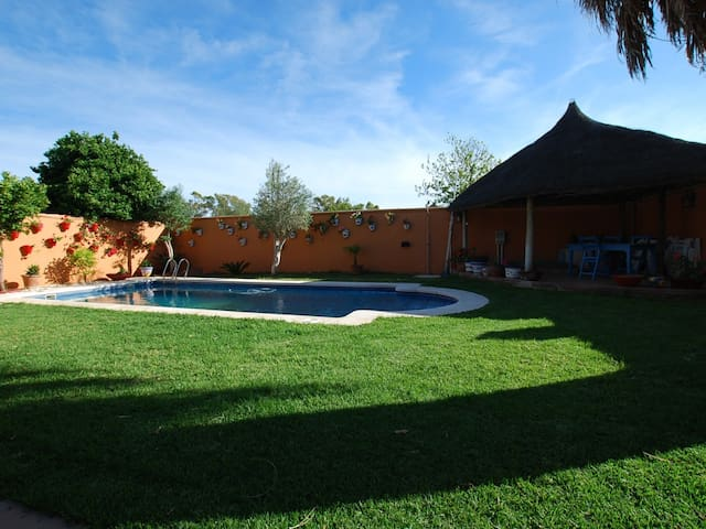 Chalet with pool Fuente Bravia very close  beach