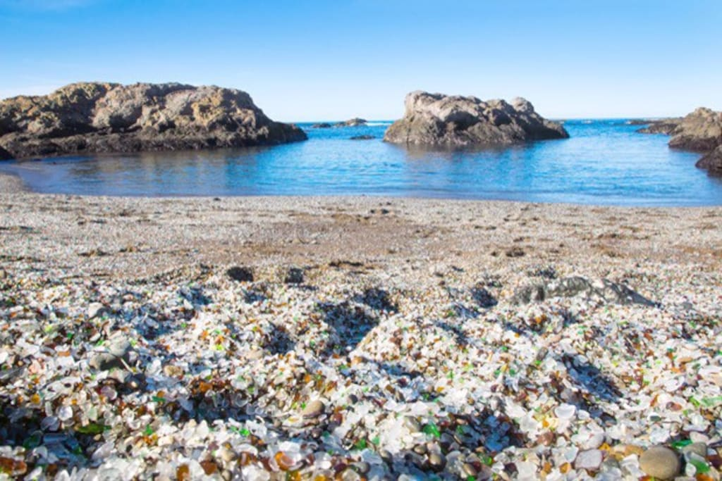 Walk a mile to glass beach