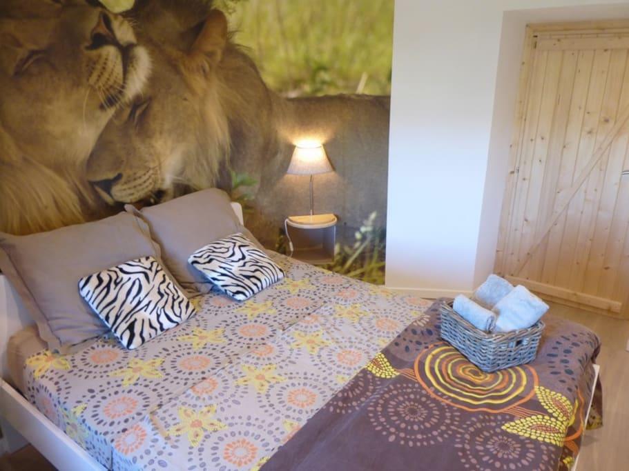 Chambre Afrique en duplex