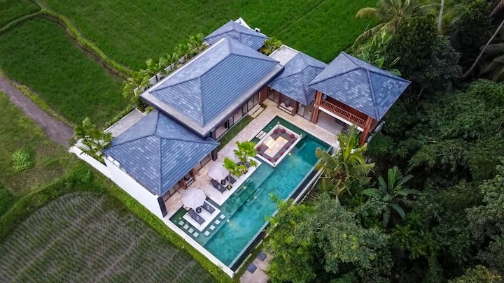 5 Bdr Dream Villa With Rice Field / Jungle View